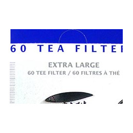 60 filtres à thés papier à garnir format XL