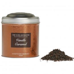 Thé noir Vanille caramel boîte métal vrac 100g