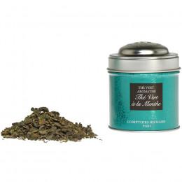 Thé vert aromatisé à la menthe boîte métal vrac 25g