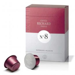 Étui de 24 capsules Richard Premium Espresso Velouté N°8 pour machine Ventura