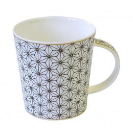 Mug Dunoon porcelaine fine Lomond Samarkand blanc 35cl