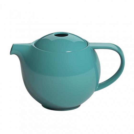 Théière ronde porcelaine bleue canard Loveramics 0.9L