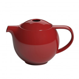 Théière ronde porcelaine Loveramics rouge 0.9L