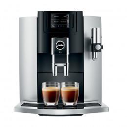 Robot café JURA E8 Platine et 3 paquets de 250g de café en grains et 2 verres expresso Cafés Richard 8cl