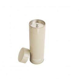 Boîte métal laquée à thé grise garnie de mini calissons 100g