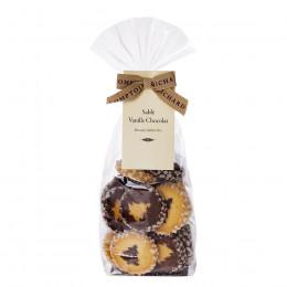 Assortiment de biscuits sablés sapins vanille chocolat Comptoirs Richard 150g