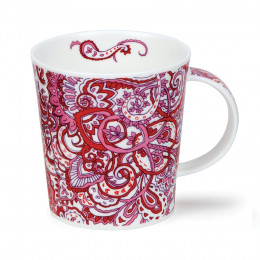Mug Dunoon porcelaine fine Lomond Kashmire Rouge 32cl