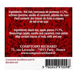 Thé noir aromatisé Pomme Chérie x15 sachets voiles suremballés