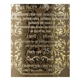 Thé noir aromatisé Noël aux Comptoirs boîte métal vrac 25g