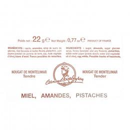 Barre de nougat miel Maison Arnaud Soubeyran 22g