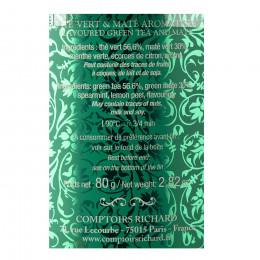 Thé vert Détox maté boîte métal vrac 80g