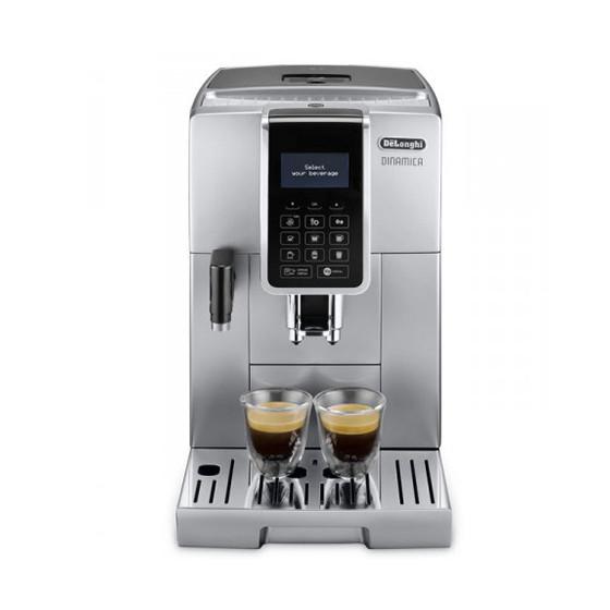 Robot café De'Longhi Dinamica FEB 3575.S et 2 paquets de 250g de café en grains et 6 verres à café 9cl offerts