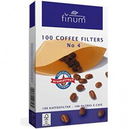 Filtres naturels taille 4 Finum (boîte de 100)