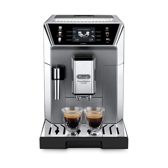 Robot café De'Longhi PrimaDonna class et 3 paquets de 250g de café en grains et 2 verres expresso Cafés Richard 8cl