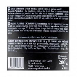 Sachet de cacao en poudre aromatisé à l'orange  200g