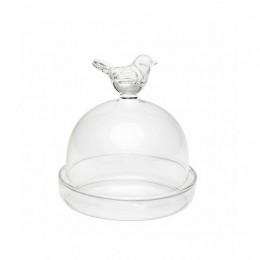 Mini cloche d'assiette cadeau oiseau