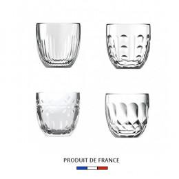 Set de 4 tasses expresso en verre La Rochère 10cl