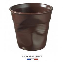 Gobelet froissé expresso chocolat 8cl