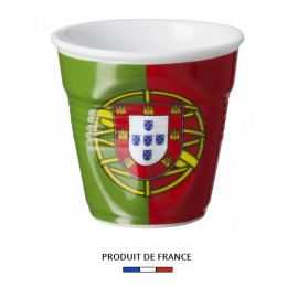 Gobelet froissé expresso drapeau Portugal 8cl