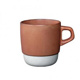 Mug empilable orange en porcelaine 32cl