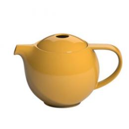Théière ronde porcelaine Loveramics jaune 0.6L