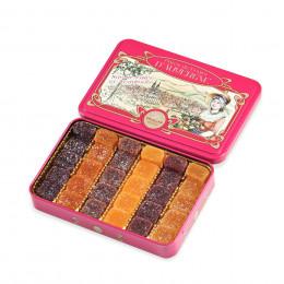 Boîte métal garnis d'un assortiment de pâtes de fruits Cruzilles 330g