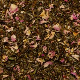 Thé blanc aromatisé à la mangue et à la rose Bio sachet 100g