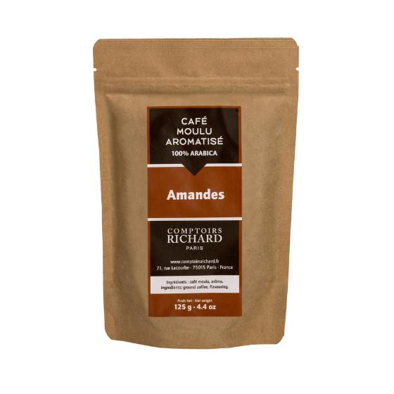 Café moulu Moka aromatisé aux amandes 125g